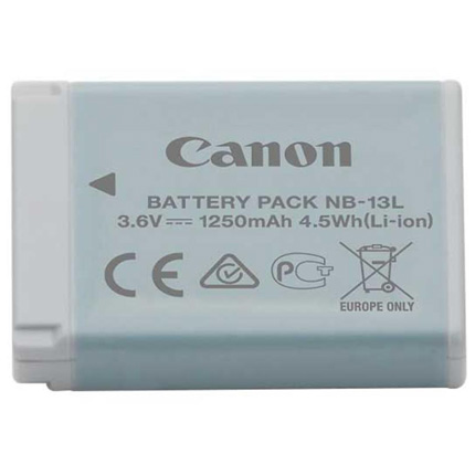 Canon NB-13L Lithium Battery for G + SX Series Cameras