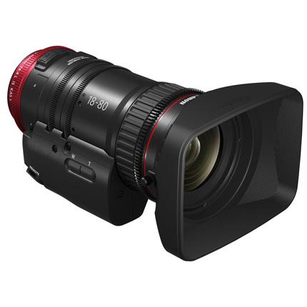 Canon CN-E18-80mm T4.4 L IS KAS S Compact Servo Cine Zoom Lens
