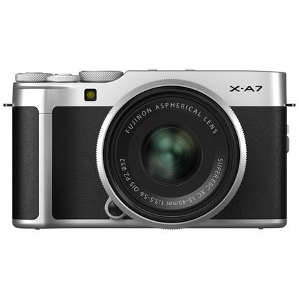 Fujifilm X-A7 Camera With Fujinon XC 15-45mm OIS PZ Lens Kit - Silver