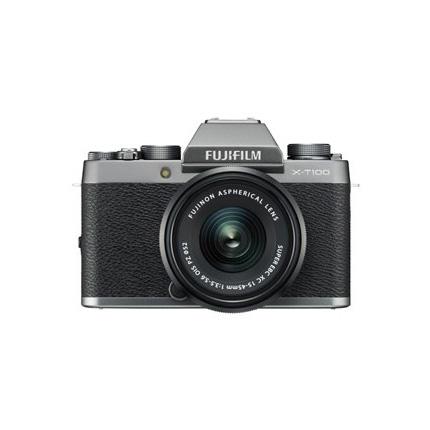 Fujifilm X-T100 mirrorless digital camera + 15-45mm  XC lens Dark Silver