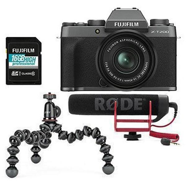 Fujifilm X-T200 + 15-45mm Vlogger kit  Dark Silver