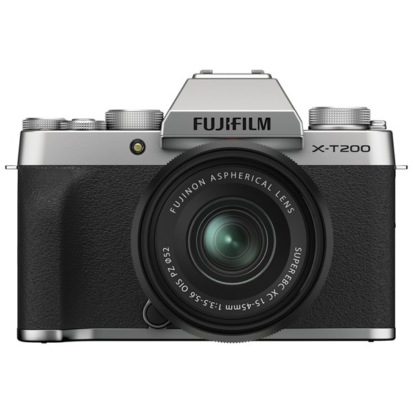 Fujifilm X-T200 Mirrorless Camera With 15-45mm XC Lens Kit Silver