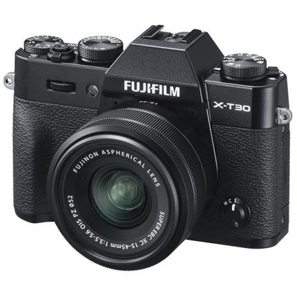 Fujifilm X-T30 Mirrorless Camera with XC 15-45mm OIS Lens Kit Black