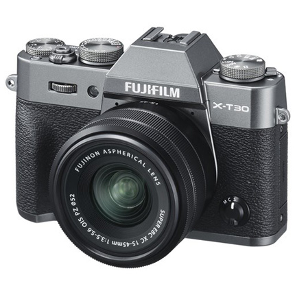 Fujifilm X-T30 Mirrorless Camera with XC 15-45mm Lens Kit Charcoal