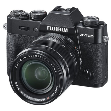 Fujifilm X-T30 Mirrorless Camera With XF 18-55mm Lens Kit Black