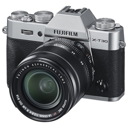 Fujifilm X-T30 Mirrorless Camera With XF 18-55mm Lens Kit Silver