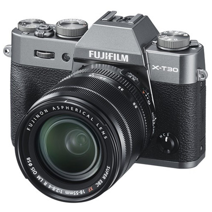 Fujifilm X-T30 Mirrorless Camera With XF 18-55mm Lens Kit Charcoal