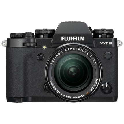 Fujifilm X-T3 Mirrorless Camera + XF18-55mm R Lens Kit Black