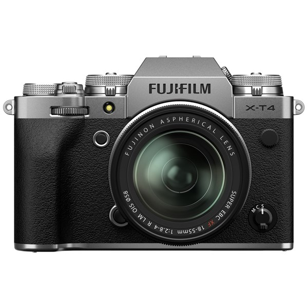 Fujifilm X-T4 Mirrorless Camera With XF 18-55mm f/2.8-4 Lens Kit Silver