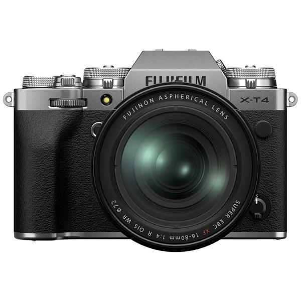 Fujifilm X-T4 Mirrorless Camera With XF 16-80mm f/4 Lens Kit Silver