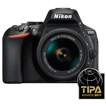 Nikon D5600 DSLR With AF-P DX Nikkor 18-55mm f/3.5-5.6G VR Lens Kit