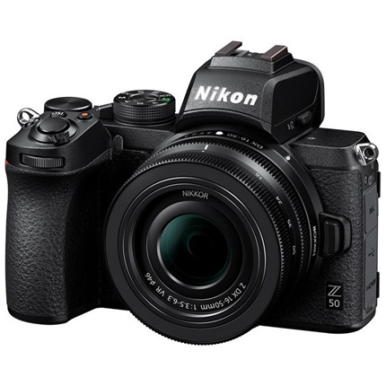 Nikon Z 50 camera 16-50mm lens & FTZ adaptor