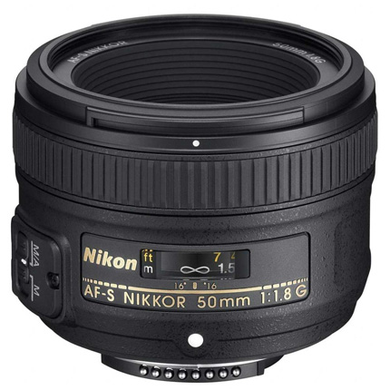 Nikon AF-S Nikkor 50mm f/1.8G Standard Prime Lens