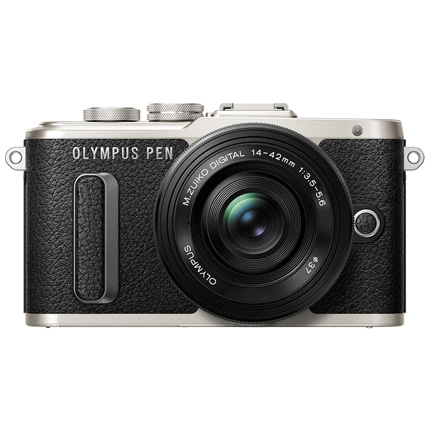 Olympus PEN E-PL8 Camera With 14-42mm EZ Pancake Lens Kit Black