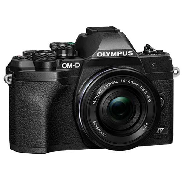 Olympus OM-D E-M10 IV MFT Camera With 14-42mm EZ Lens Kit Black