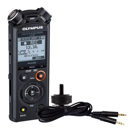 Olympus LS-P4 black Linear PCM Recorder incl 3.5mm cable & hot shoe adapter