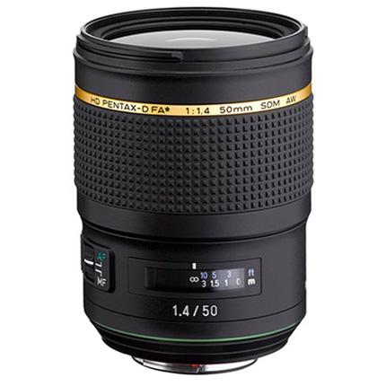 Pentax 50mm f/1.4 SDM AW FA* Prime Lens