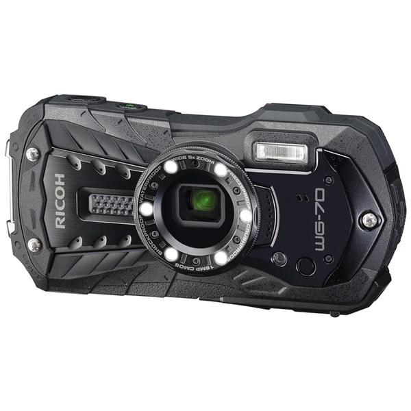 Ricoh WG-70 Waterproof Rugged Camera Black