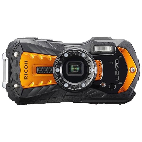 Ricoh WG-70 Waterproof Rugged Camera Orange
