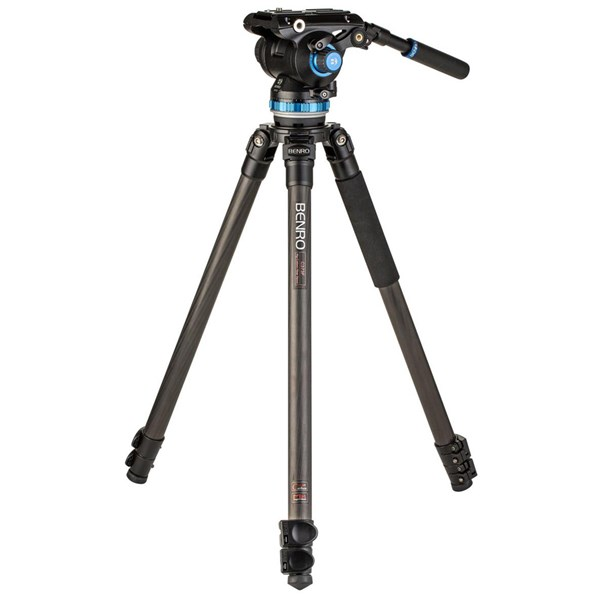 Benro C373F Carbon Fibre Video Kit S8PRO Head with 75mm Half Ball