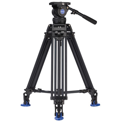 Benro Aluminium Twin Leg Video Tripod with BV10 Fluid Head Kit