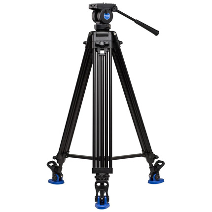 Benro Aluminium Twin Leg Video Long Tripod with K5 Fluid Head Kit