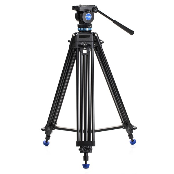 Benro Aluminium Dual-Tube 3-sect Video Tripod Kit