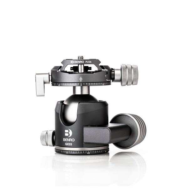 Benro GX35 Low-Profile Dual Panoramic Ball Head With PU56 Plate