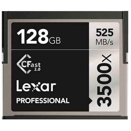 Lexar 128GB 3500x (525MB/Sec) Professional CFast 2.0 Card