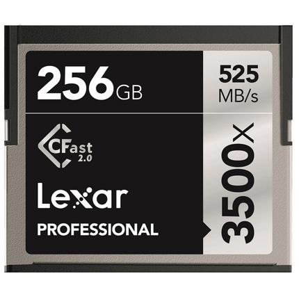 Lexar 256GB 3500x (525MB/Sec) Professional CFast 2.0 Card