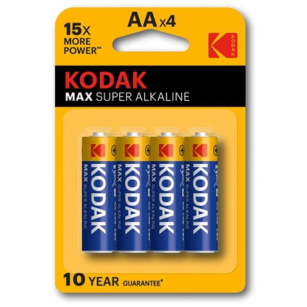 Kodak Max AA Batteries (4 Pack)