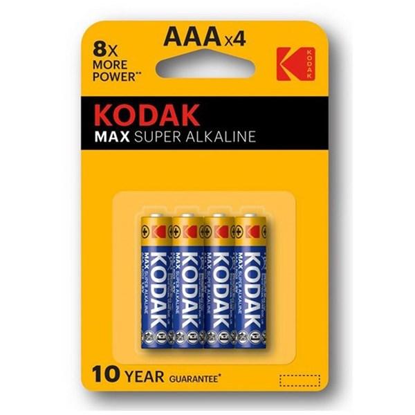 Kodak Max AAA Alkaline Batteries (4 Pack)