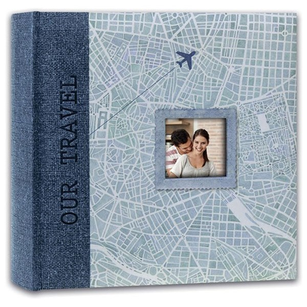 Swains Map Our Travel Blue 200 4x6 Album