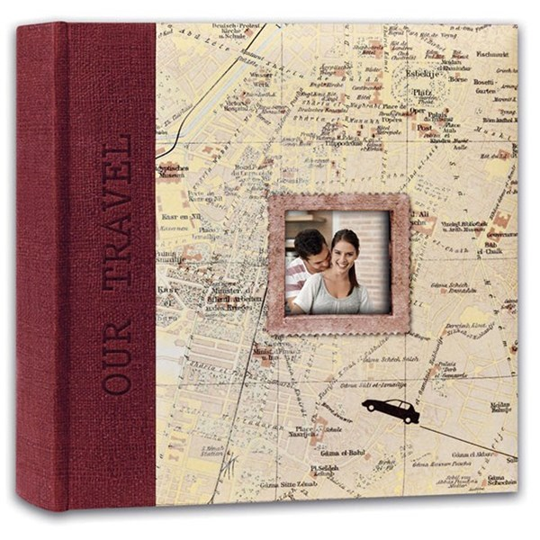 Swains Map Our Travel Red 200 4x6 Album