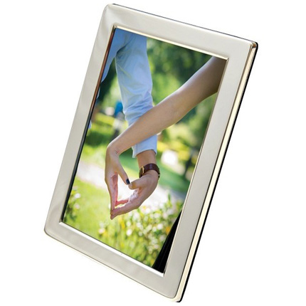 Swains Classic Narrow Silver Plated 5x7 Frame