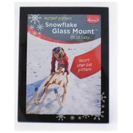 Adventa Glass Mount Snowflake