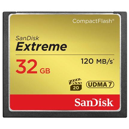 Sandisk 32GB Extreme CF 120MB/s