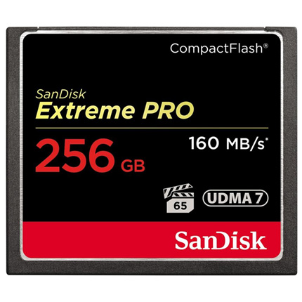 SanDisk 256GB Extreme Pro CF 160MB/s