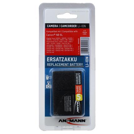 Ansmann Li-Ion Canon NB 6L Battery