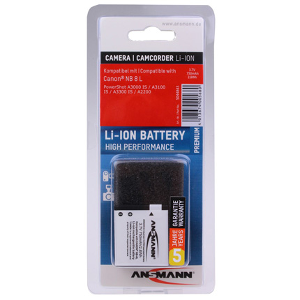 Ansmann  Li-Ion Canon NB 8L battery
