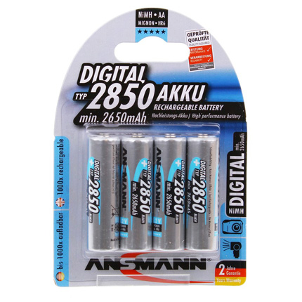 Ansmann AA 2850mAh NiMH Digital batteries 4 pack