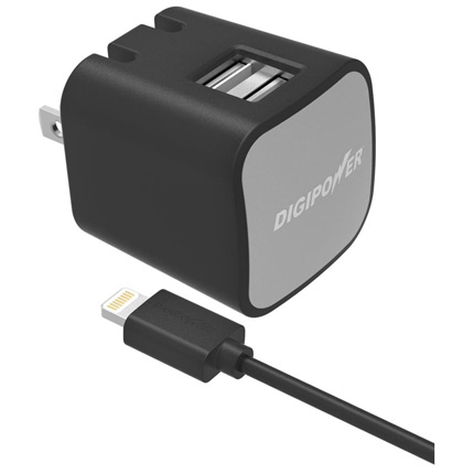 Digipower 3.4AMP Dual Wall Charger + LC
