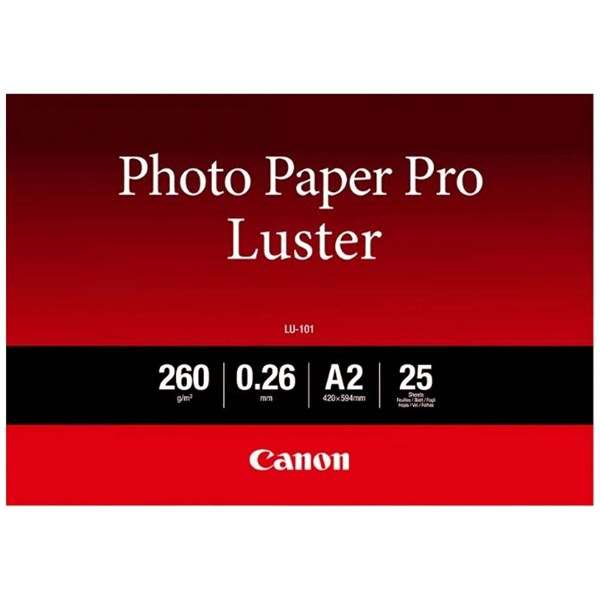 Canon Luster Photo Paper A2 - 25 Sheets