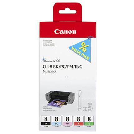 Canon CLI-8 BK/PC/PM/R/G Multi Pack