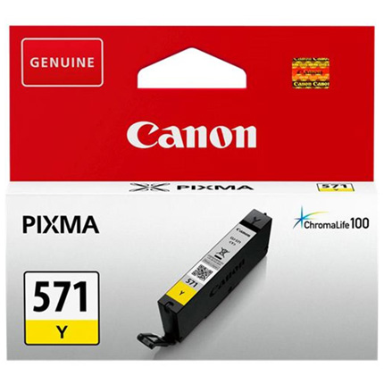 Canon CLI-571Y Yellow Ink Cartridge for Pixma MG6850