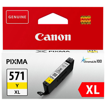 Canon CLI-571Y XL Yellow Ink Cartridge for Pixma MG6850