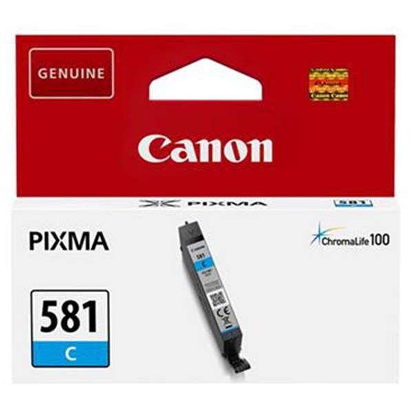 Canon CLI-581 Cyan Ink Cartridge - Pixma TS8150,TR8550,TS6150,TS9150,TS9155,TS6151,TR75T