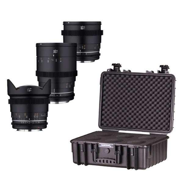 Samyang VDSLR MK2 Three Cine Lens Kit With Case For Canon RF
