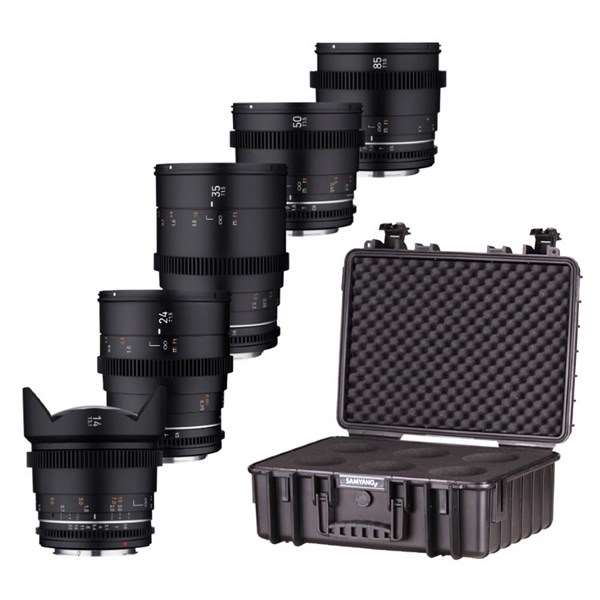 Samyang VDSLR MK2 Five Cine Lens Kit With Case For Canon RF