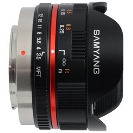 Samyang 7.5mm f/3.5 UMC Fisheye Micro Four Thirds Lens Black